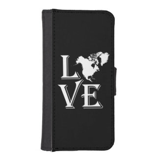 Love North America Continent iPhone SE/5/5s Wallet