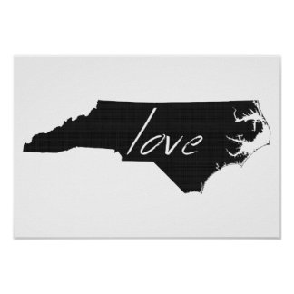 Love North Carolina Poster