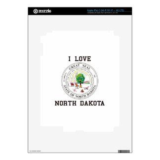 Love North Dakota iPad 3 Skins