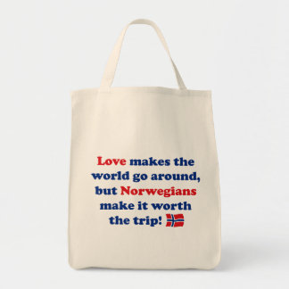 Love Norwegians Grocery Tote Bag