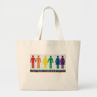 Love not gender canvas bags