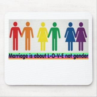 Love not gender mouse mats