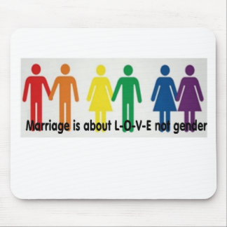 Love not gender mouse pad