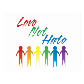 Love Not Hate Gay Postcards