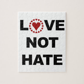 LOVE NOT HATE JIGSAW PUZZLE