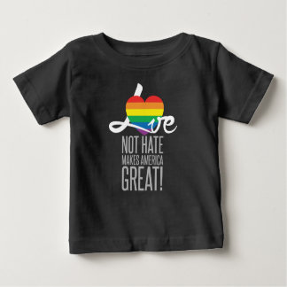 Love Not Hate (Rainbow) Baby Dark Jersey T-Shirt