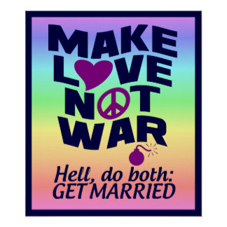 Love Not War poster