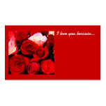 Love Note-1 Double-Sided Standard Business Cards (Pack Of 100)
