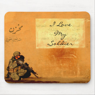 Love Note on the Wall Military Soldier Mouse Pad