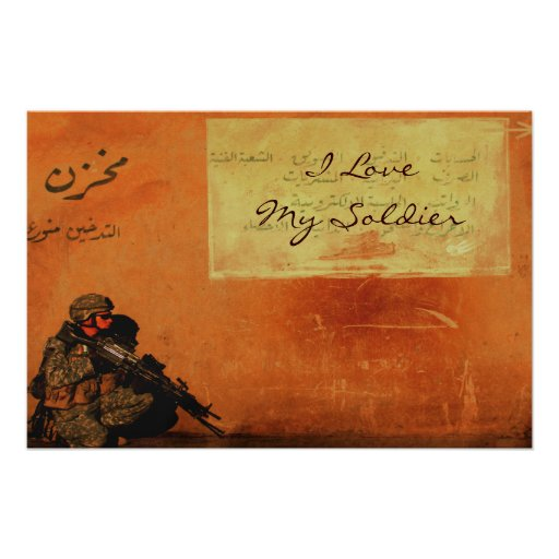 Love Note on the Wall Personalized Military Posters