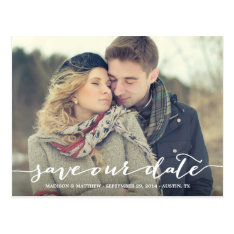 Love Note | Save The Date Postcard at Zazzle
