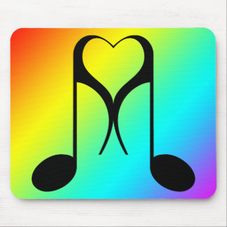 love notes : 8th note : mouse pad