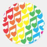 Love Notes Classic Round Sticker