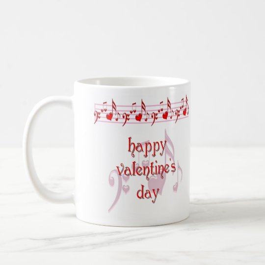 Love Notes Happy Valentine's Day Coffee Mug