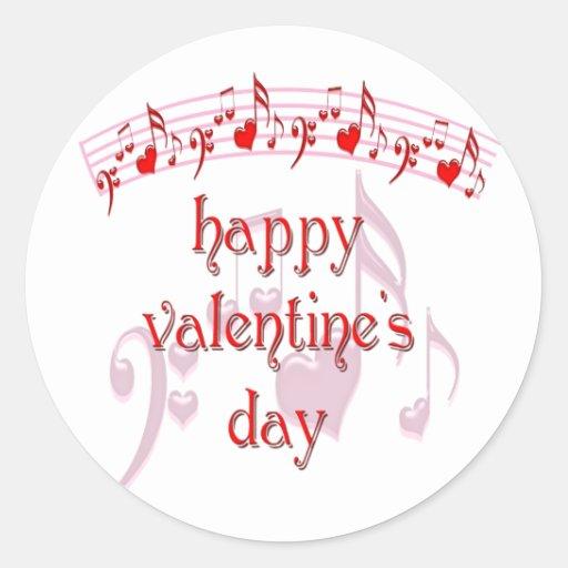 Love Notes Happy Valentine's Day Round Stickers