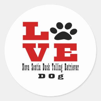 Love Nova Scotia Duck Tolling Retriever Dog Design Classic Round Sticker
