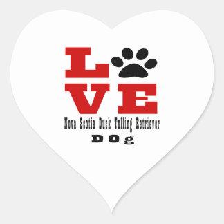 Love Nova Scotia Duck Tolling Retriever Dog Design Heart Sticker