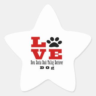Love Nova Scotia Duck Tolling Retriever Dog Design Star Sticker