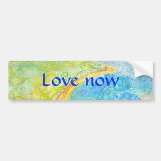 Love Now Bumpersticker with Soft Background Car Bumper Sticker