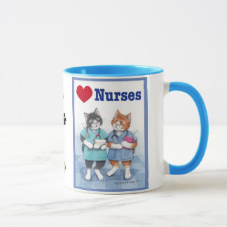 Love Nurses Cats Bud & Tony Mug