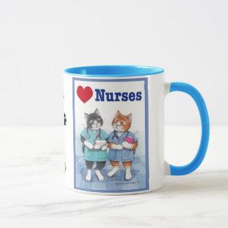 Love Nurses Cats Bud & Tony Mug