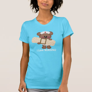 Love Nursing Bear cartoon t-shirt