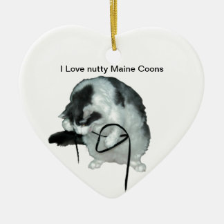 Love nutty Maine Coons Ornament