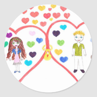 love oasis classic round sticker
