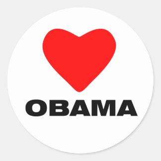 Love Obama Classic Round Sticker