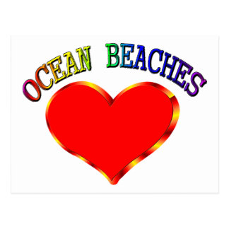 Love Ocean Beaches Postcard