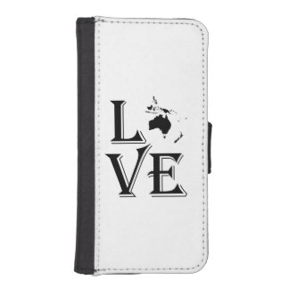 Love Oceania Continents iPhone SE/5/5s Wallet