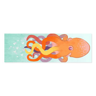 Love Octopus Bookmark Business Card