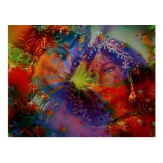 Love of a God and Goddess Postcard