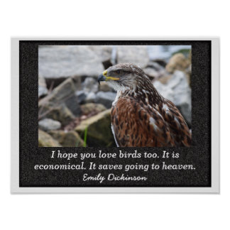 Love of Birds - Emily Dickinson quote - print