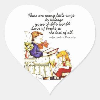 Love of Books Heart Sticker
