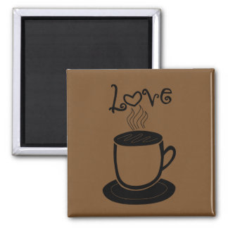 Love of Coffee - Choose Color Magnet