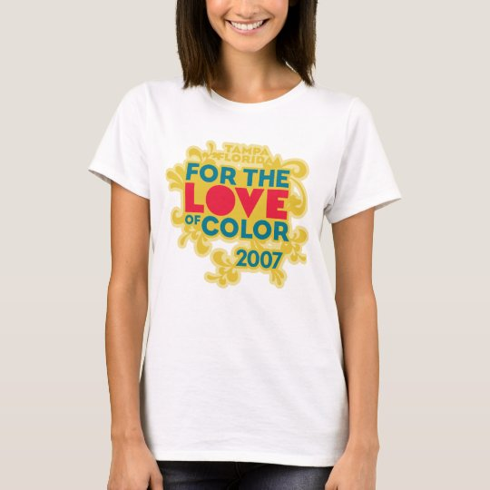 Love of Color Yellow on White T-Shirt