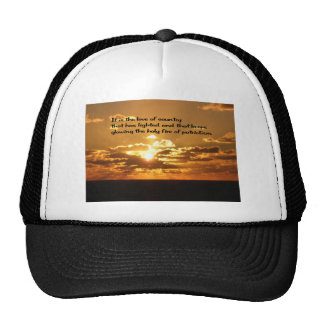 Love of country trucker hat