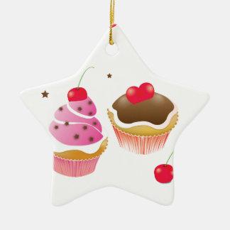 """""""Love of cupcakes """" Ceramic Ornament"""