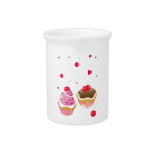 """""""Love of cupcakes """" Drink Pitcher"""