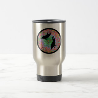 LOVE OF DOLPHINS TRAVEL MUG