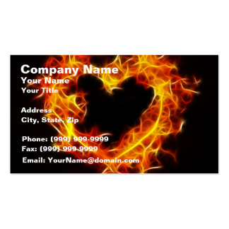 Love of Fire Double-Sided Standard Business Cards (Pack Of 100)