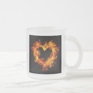 Love of Fire Frosted Glass Coffee Mug