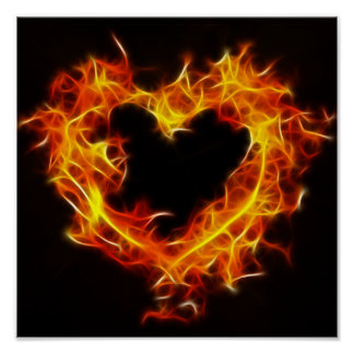Love of Fire Print