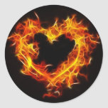 Love of Fire Round Stickers