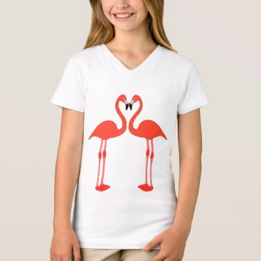 Valentines Themed Love of flamingos T-Shirt