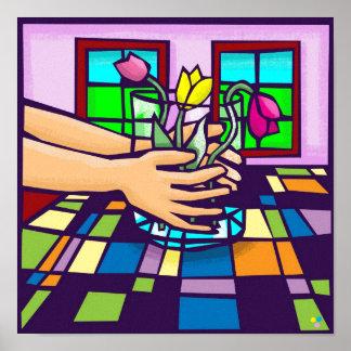 LOVE of flowers Print