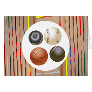 Love of Games Multi Image Art Collection Greeting Card