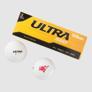 Love of Hearts Golf Ball Designs by Janz