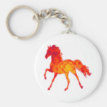 LOVE OF HORSES BASIC ROUND BUTTON KEYCHAIN